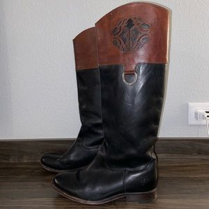 Frye Melissa Logo Leather Boots